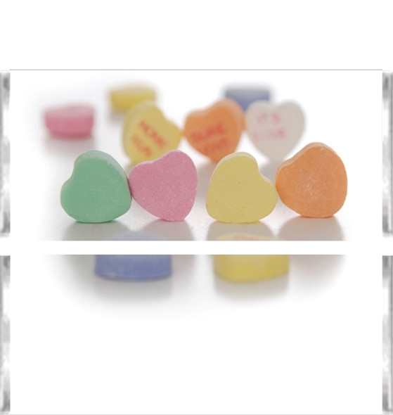 Candy Hearts Candy Bar Wrappers