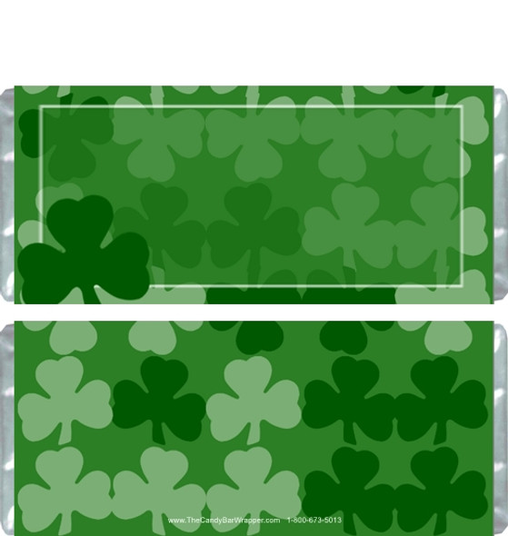 Shamrock Collage Candy Wrappers