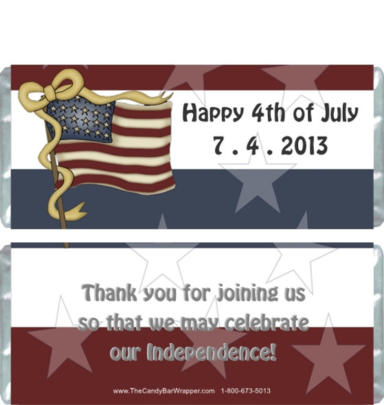 Fourth of July Candy Wrappers Sample