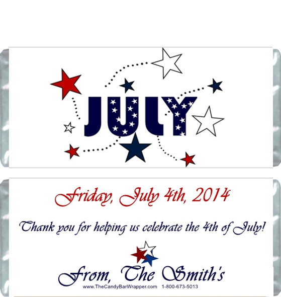 Happy 4th of July Candy Wrappers Sample