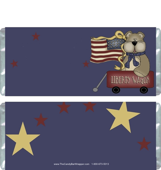 Liberty Wagon Bear Candy Wrappers