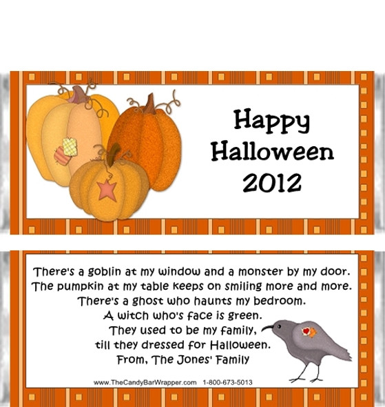 Halloween Pumpkins Candy Wrappers Sample