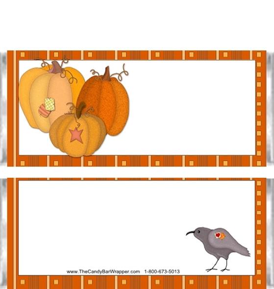 Halloween Pumpkins Candy Wrappers