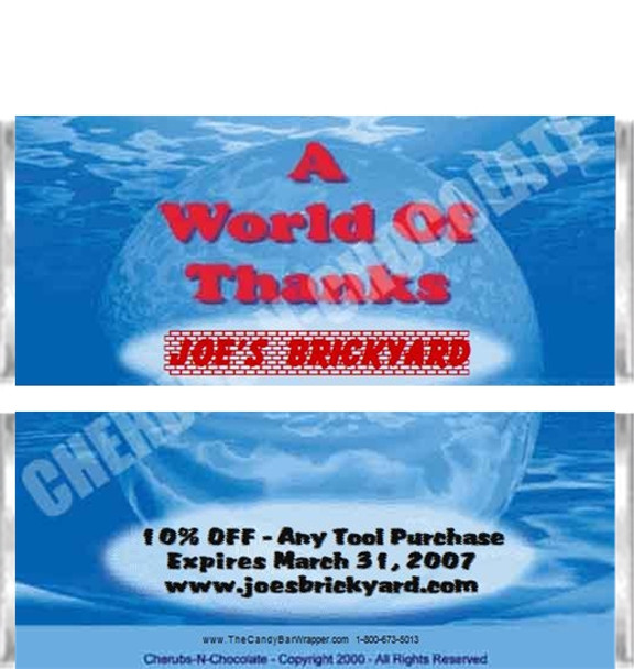 World of Thanks Candy Wrappers Sample
