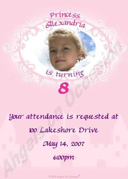 Princess Party Invitations Sample