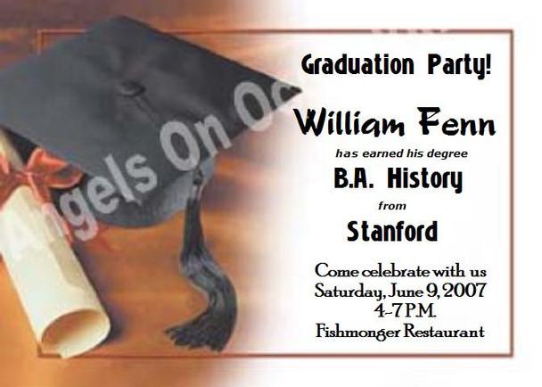 Graduation Party Invitation Sample