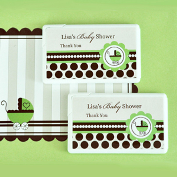 Green Baby Shower Personalized Mini Mint Favors