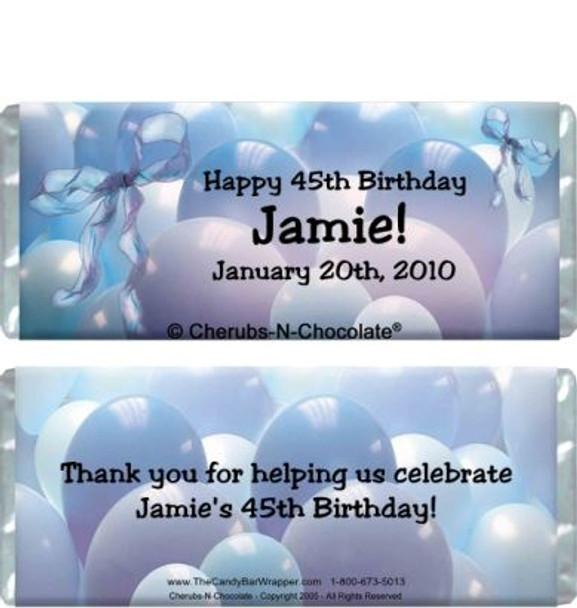 Balloons & Ribbons Candy Bars Sample