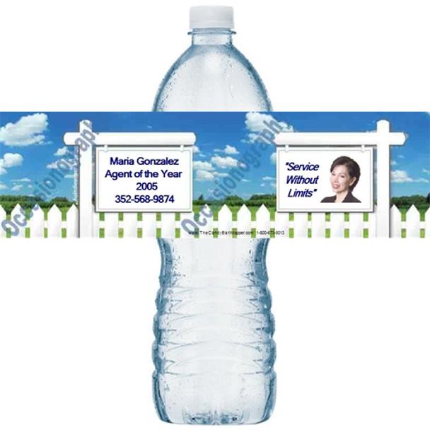 Realtor Sign Water Bottle Labels