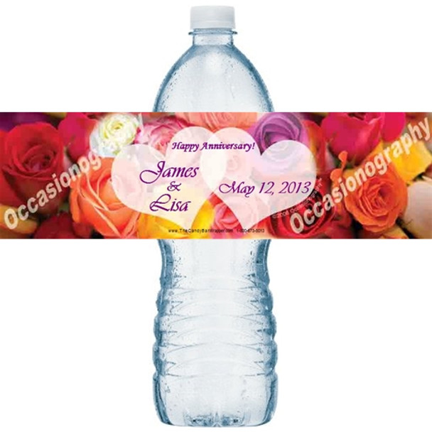 Color My Heart Water Bottle Labels