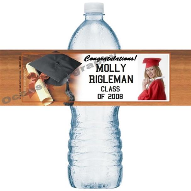 Graduation 2 Water Bottle Labels