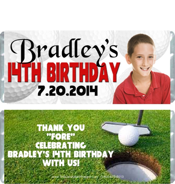 Golf Birthday Boy Candy Wrappers