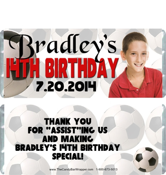 Soccer Birthday Boy Candy Wrappers