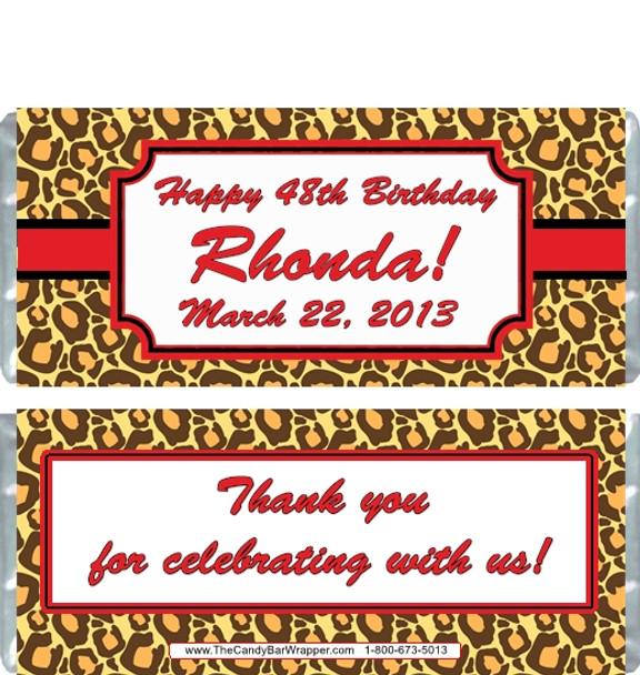 Leopard Print Candy Bar Wappers