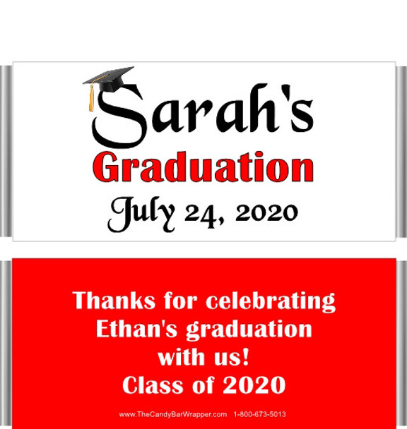 Red Graduation Chocolate Bars no Picture
