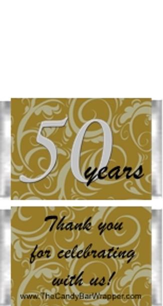 Mini 50th Anniversary Candy Bars