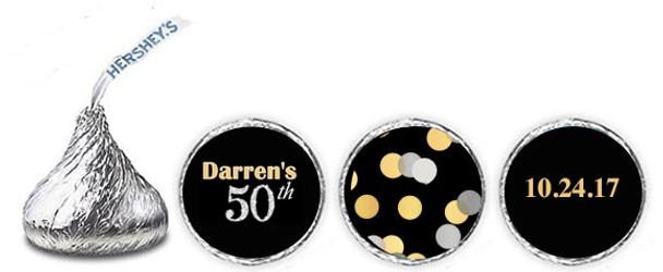 50th Birthday Hershey Kisses - 96 per Set