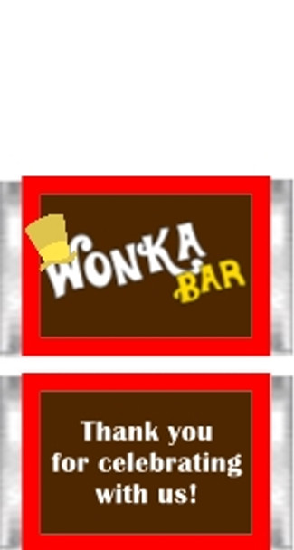 Willy Wonka Themed Mini Candy Bars