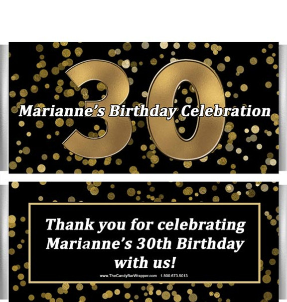 30th Birthday Candy Bar Wrappers