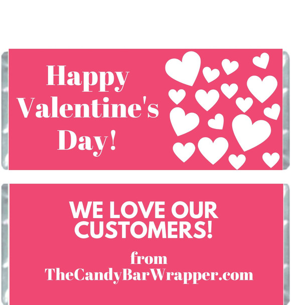 Happy Valentine's Day Candy Bar Wrappers