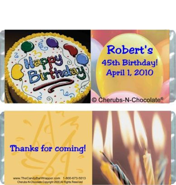 Birthday Cake Candy Wrapper Sample