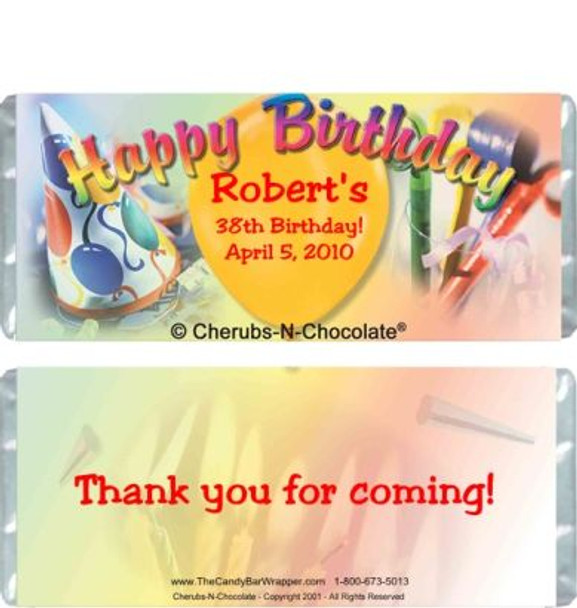 Birthday Colors Candy Wrapper Sample