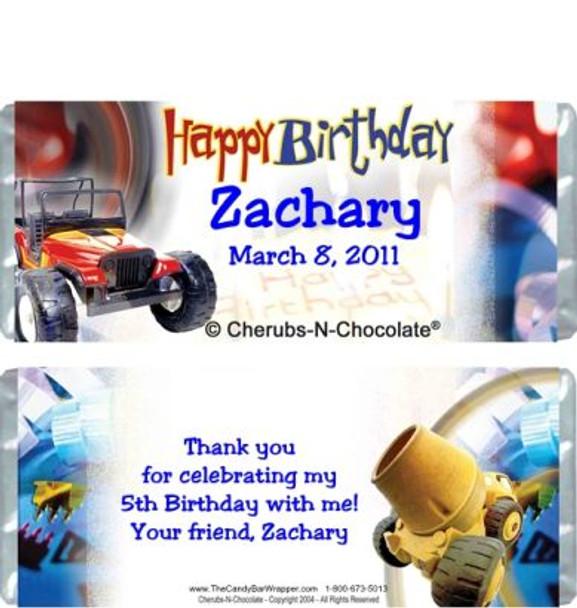 Birthday Boy Candy Wrapper Sample