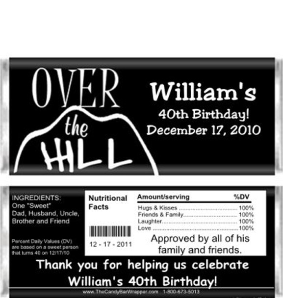 Over the Hill Candy Wrappers Sample
