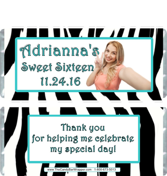 Sweet Sixteen Candy Wrappers Sample