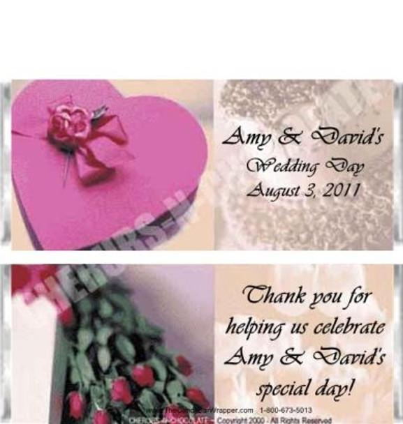Wedding Cake Candy Wrapper Sample
