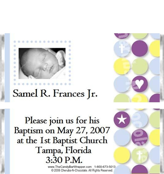 Baptism Party Favors Sample