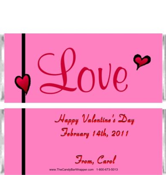 Valentine's Day Candy Bar Wrappers Sample