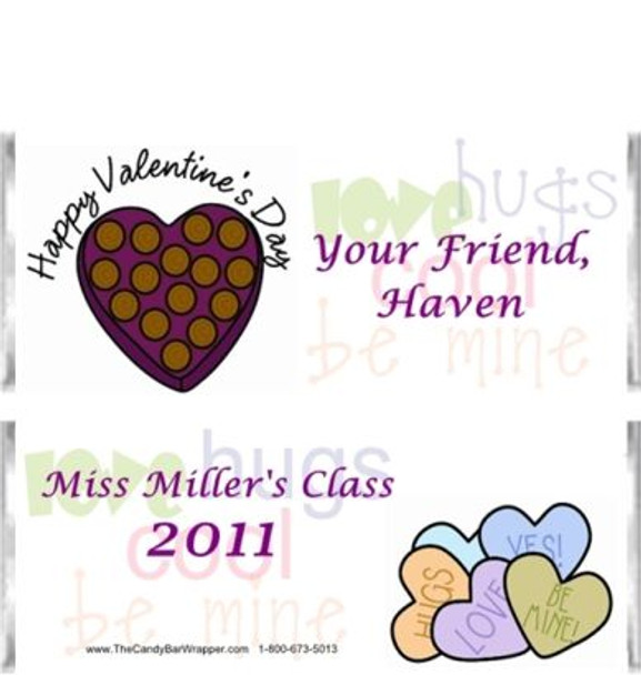 Happy Valentines Day Candy Bar Wrapper