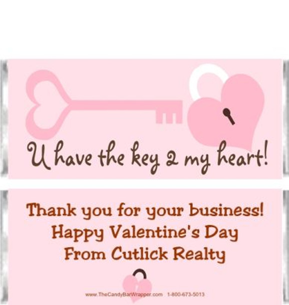 Key Heart Candy Wrappers Sample