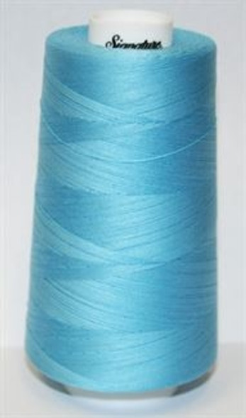 Signature Cotton - F204 Soft Cyan - 3000 yd