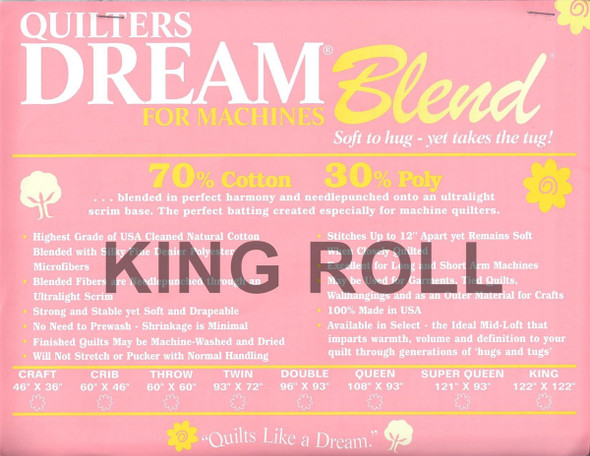"Dream Blend - King Roll - 120"" x 25yds"