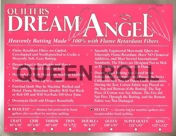 "Dream Angel - Queen Roll (Select Wt.) - 93"" x 30yds"