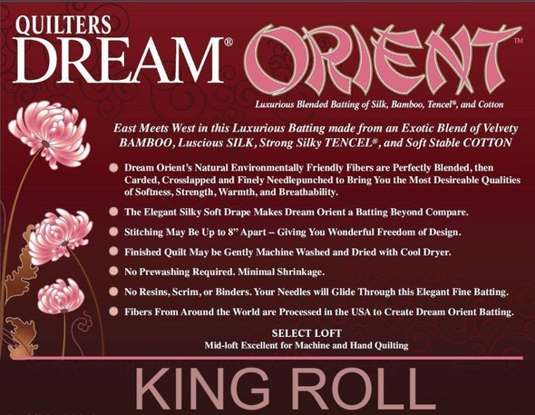 "Dream Orient - King Roll (120"" x 25yds)"