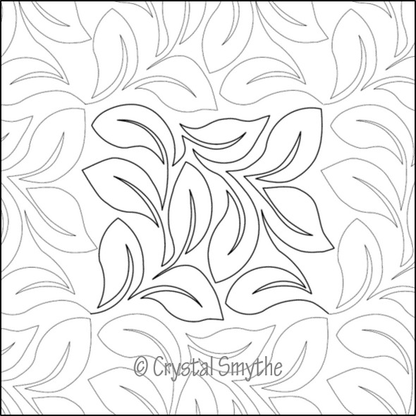"Cyrstal's Lovely Leaves-12"" by Dawna's Design Threads"