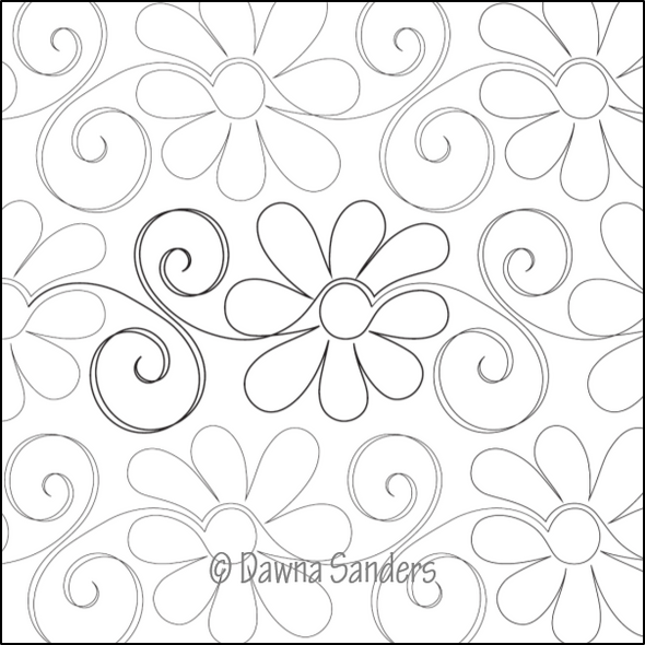 "Gerbera Daisy-12"" by Dawna's Design Threads"