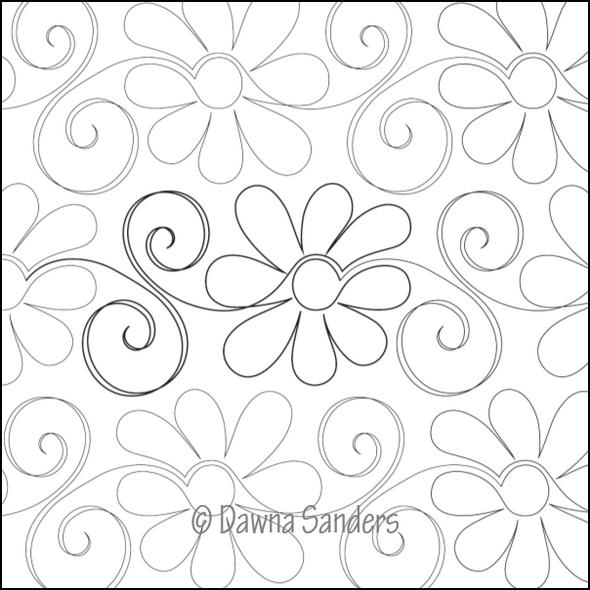"Gerbera Daisy-12"" by Dawna's Design Threads"