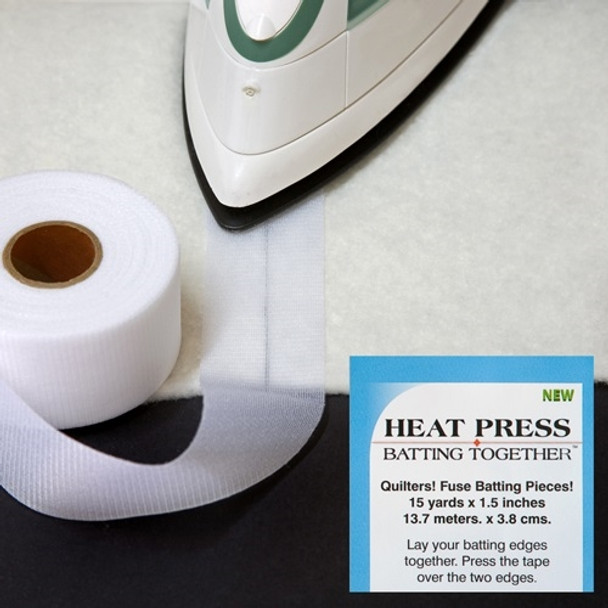 Heat Press Batting Together - 1-1/2in x 15yds - White
