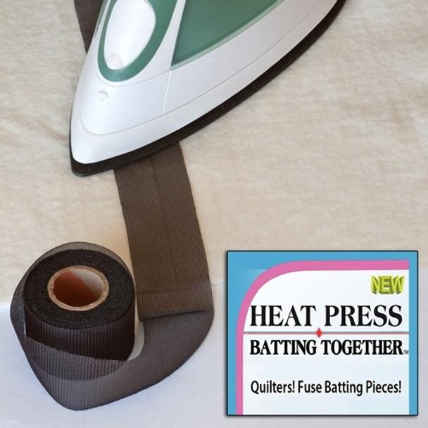 Heat Press Batting Together - 1-1/2in x 10yds - Black