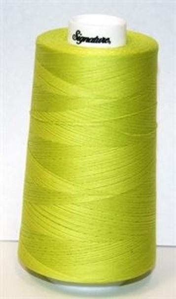 Signature Cotton - F104 Lime Splash - 3000 yd