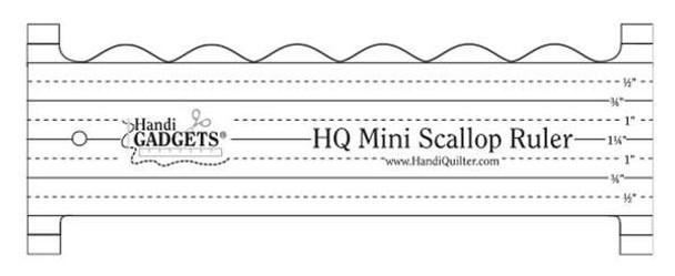 Mini Scallops Ruler