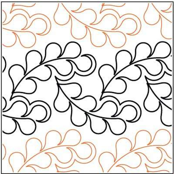 """Flowing Feathers-10"""" by Lorien Quilting"""