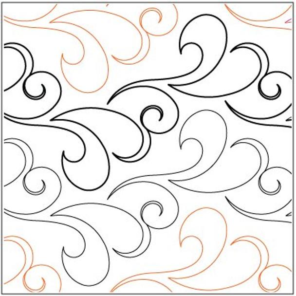 "Nouveau Feathers-7"" by Lorien Quilting"