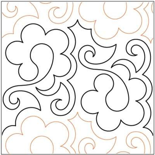 """Paisley Playtime-9"""" by Lorien Quilting"""