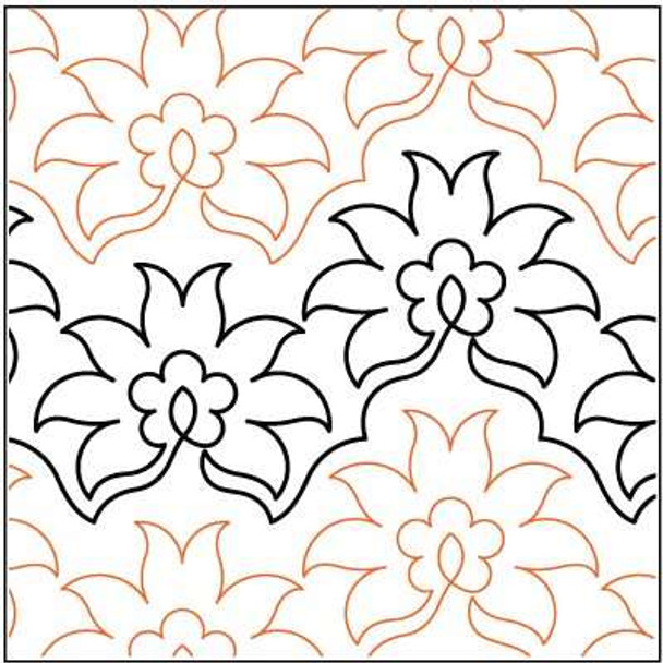 """Pineapple Flower-10"""" by Lorien Quilting"""
