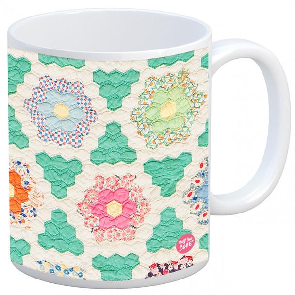 Hexagon Quilt Mug